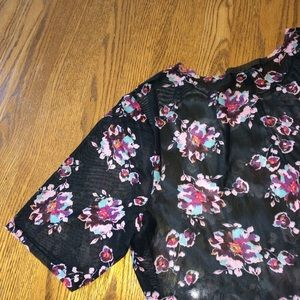 Lane Bryant Tops - Floral mesh tunic size 14/16 NWOT